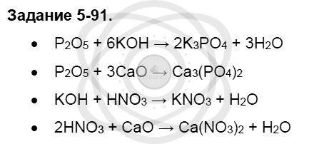 Химия 8 класс Кузнецова Н. Е. Глава 5. Основные классы неорганических соединений / Задания: 91