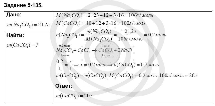 Химия 8 класс Кузнецова Н. Е. Глава 5. Основные классы неорганических соединений / Задания: 135