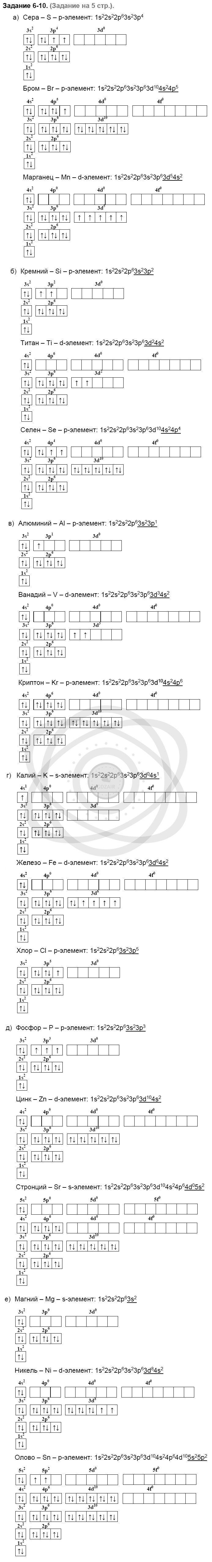 Химия 8 класс Кузнецова Н. Е. Глава 6. Строение атома. Периодический закон и периодическая система Д. И. Менделеева в свете электронной теории / Задания: 10