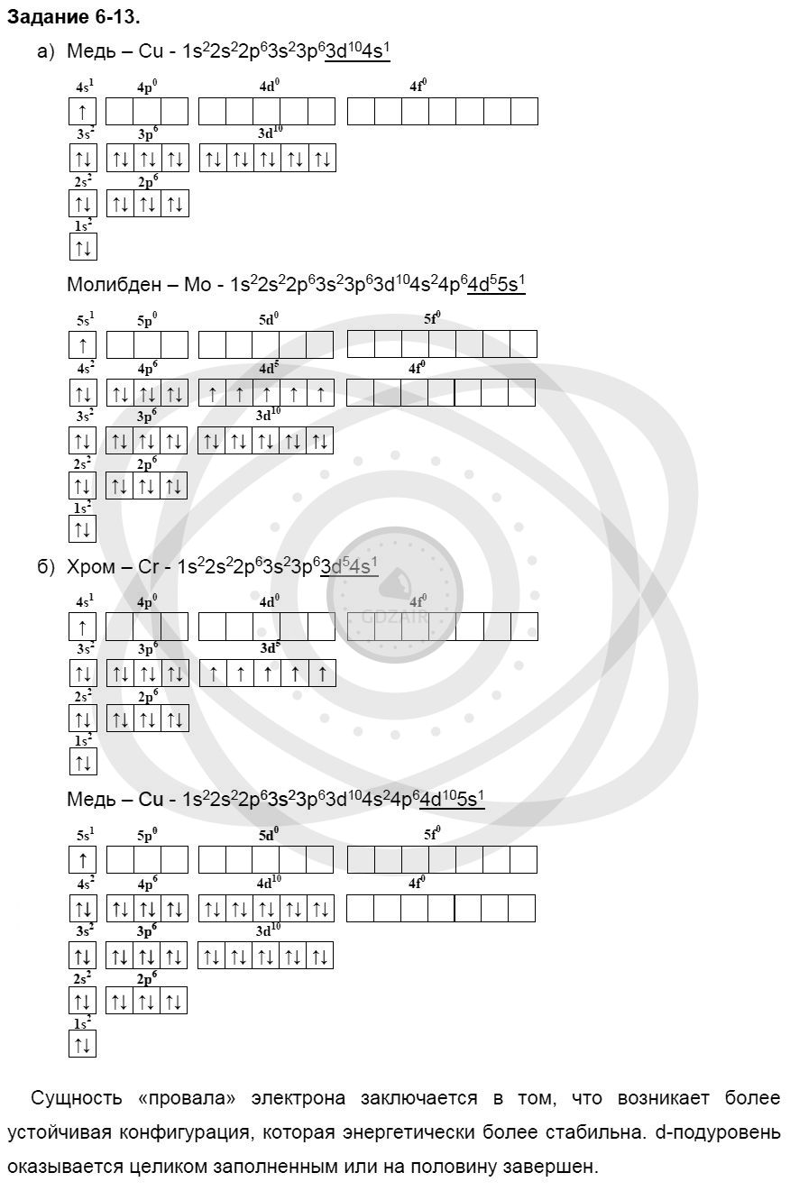 Химия 8 класс Кузнецова Н. Е. Глава 6. Строение атома. Периодический закон и периодическая система Д. И. Менделеева в свете электронной теории / Задания: 13