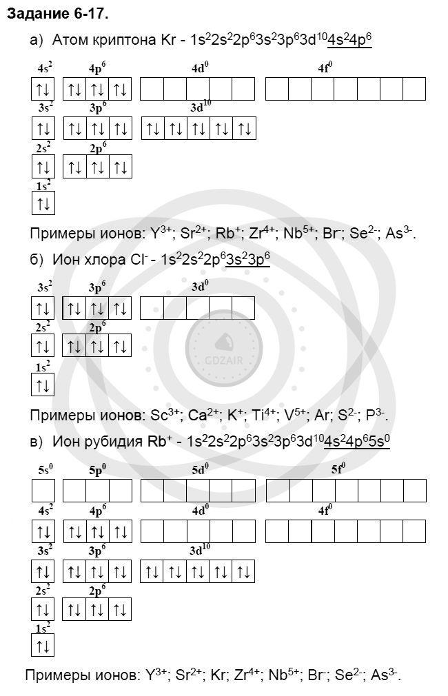 Химия 8 класс Кузнецова Н. Е. Глава 6. Строение атома. Периодический закон и периодическая система Д. И. Менделеева в свете электронной теории / Задания: 17