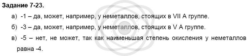 Химия 8 класс Кузнецова Н. Е. Глава 7. Строение вещества. Химические реакции в свете электронной теории / Задания: 23