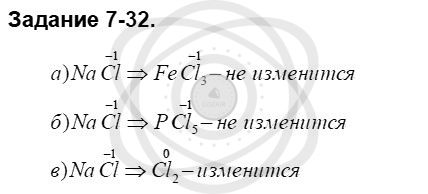 Химия 8 класс Кузнецова Н. Е. Глава 7. Строение вещества. Химические реакции в свете электронной теории / Задания: 32