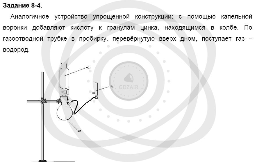 Химия 8 класс Кузнецова Н. Е. Глава 8. Водород. Галогены / Задания: 4