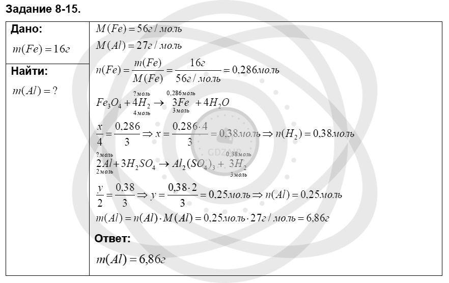 Химия 8 класс Кузнецова Н. Е. Глава 8. Водород. Галогены / Задания: 15