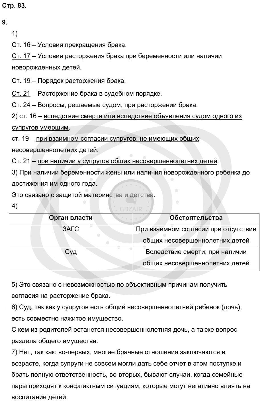 Обществознание 9 класс Котова О. А. Страницы: 82
