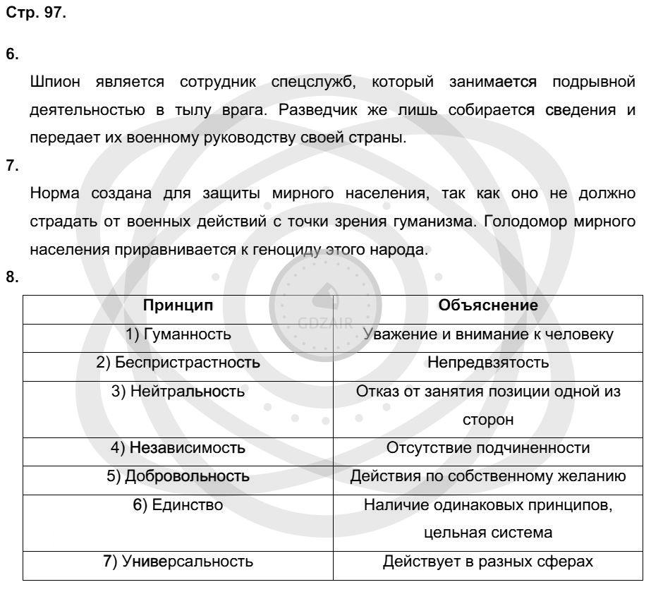 Обществознание 9 класс Котова О. А. Страницы: 97