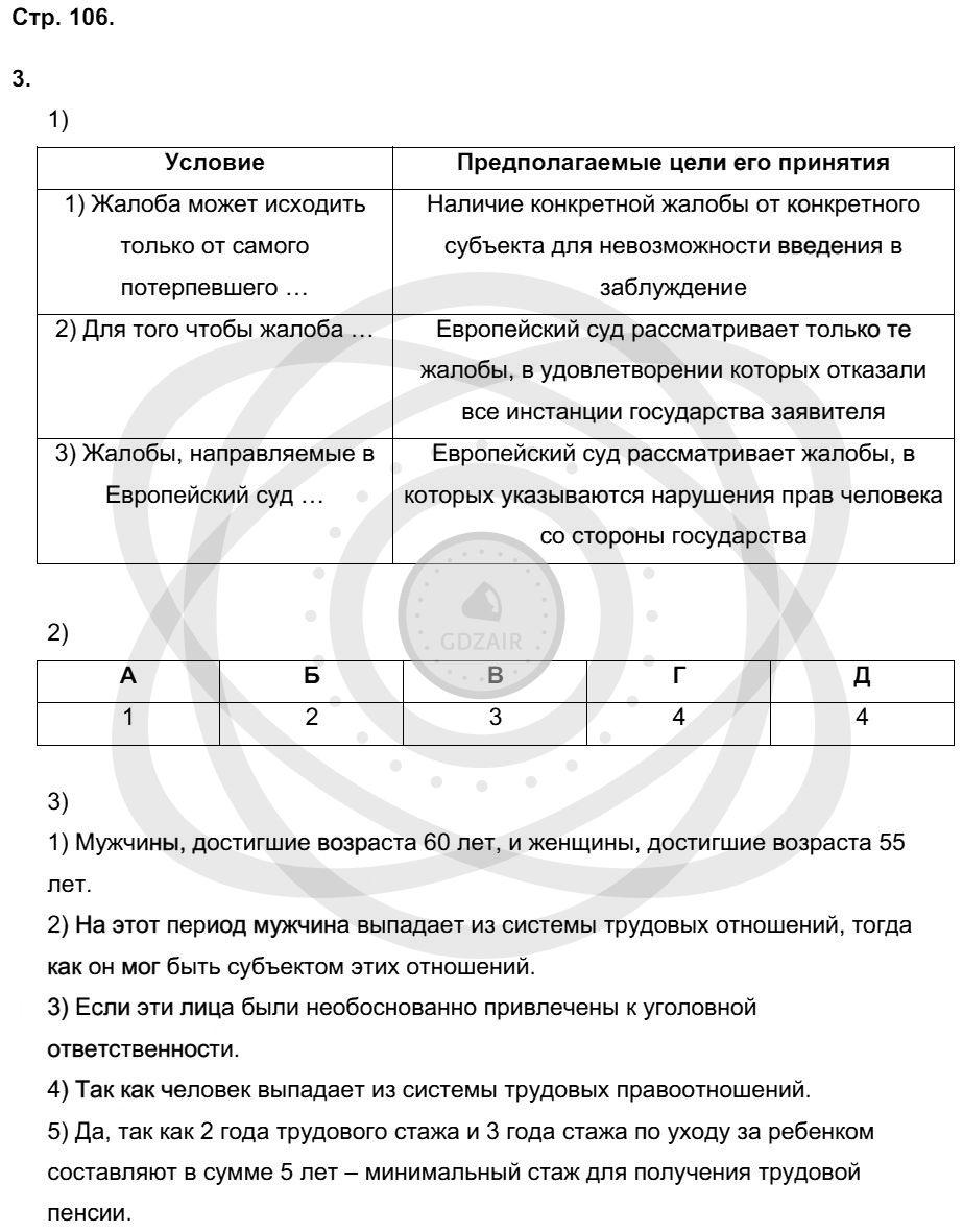 Обществознание 9 класс Котова О. А. Страницы: 106