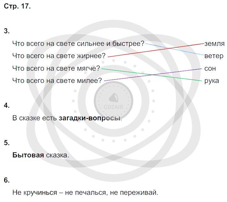 Литература 3 класс Ефросинина Л. А. Страницы: 17