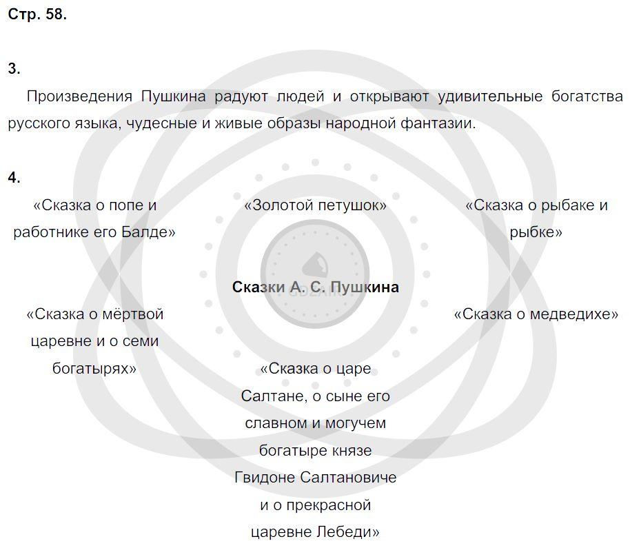 Литература 3 класс Ефросинина Л. А. Страницы: 58