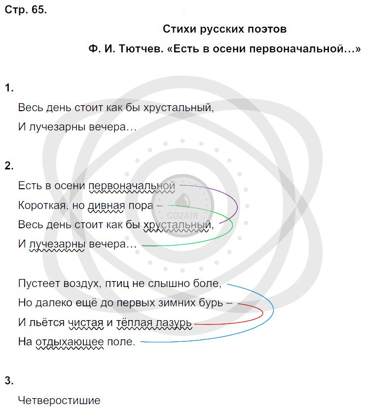 Литература 3 класс Ефросинина Л. А. Страницы: 65