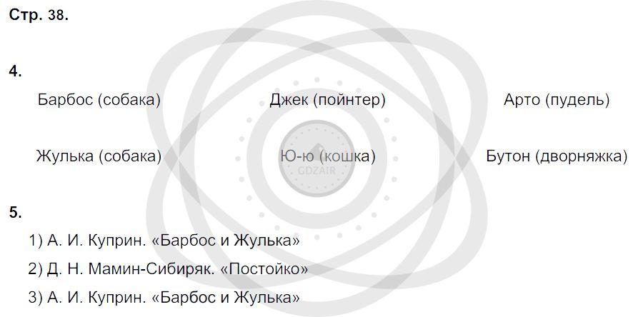 Литература 3 класс Ефросинина Л. А. Страницы: 38