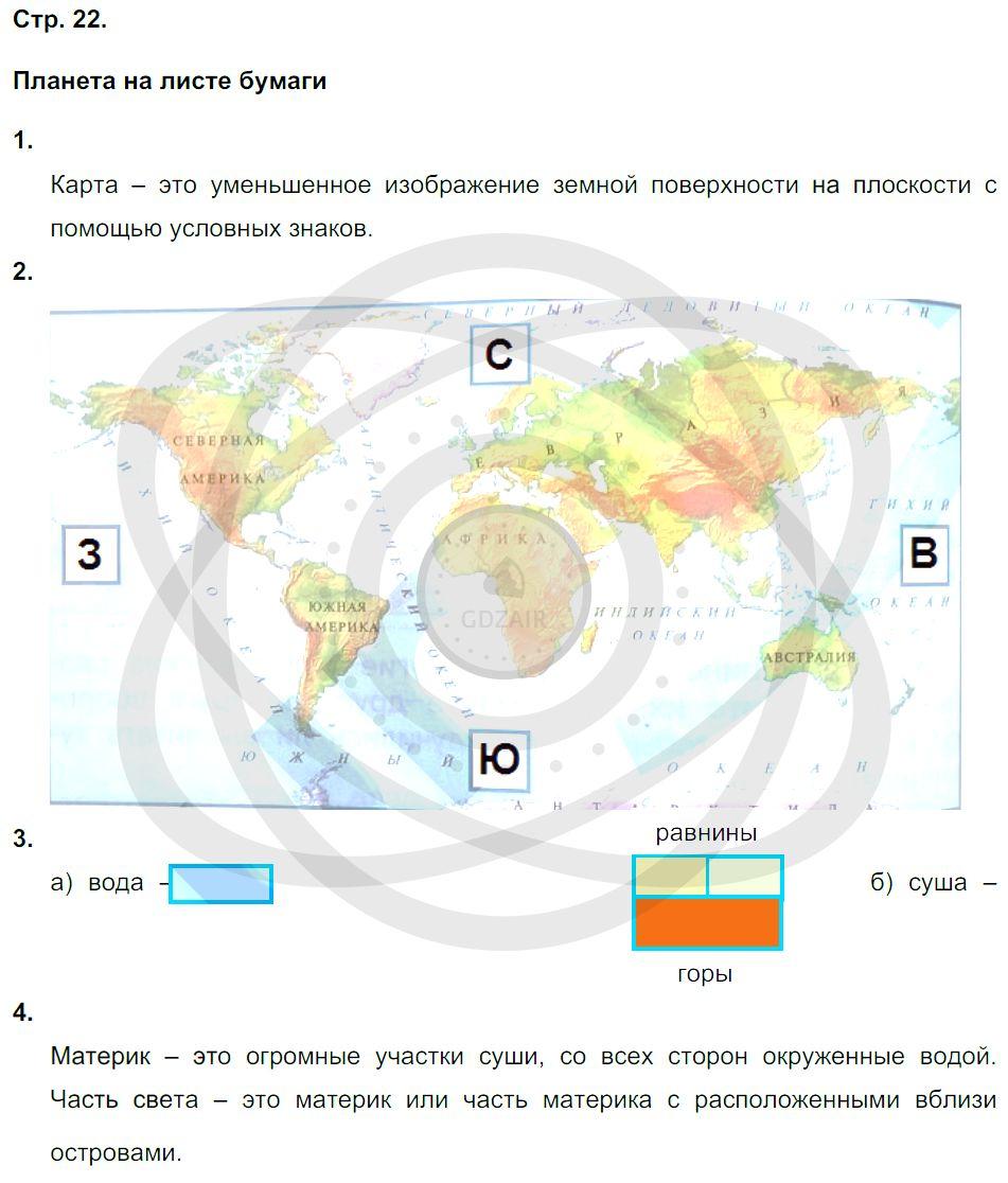 Окружающий мир 3 класс Плешаков А. А. Страницы: 22