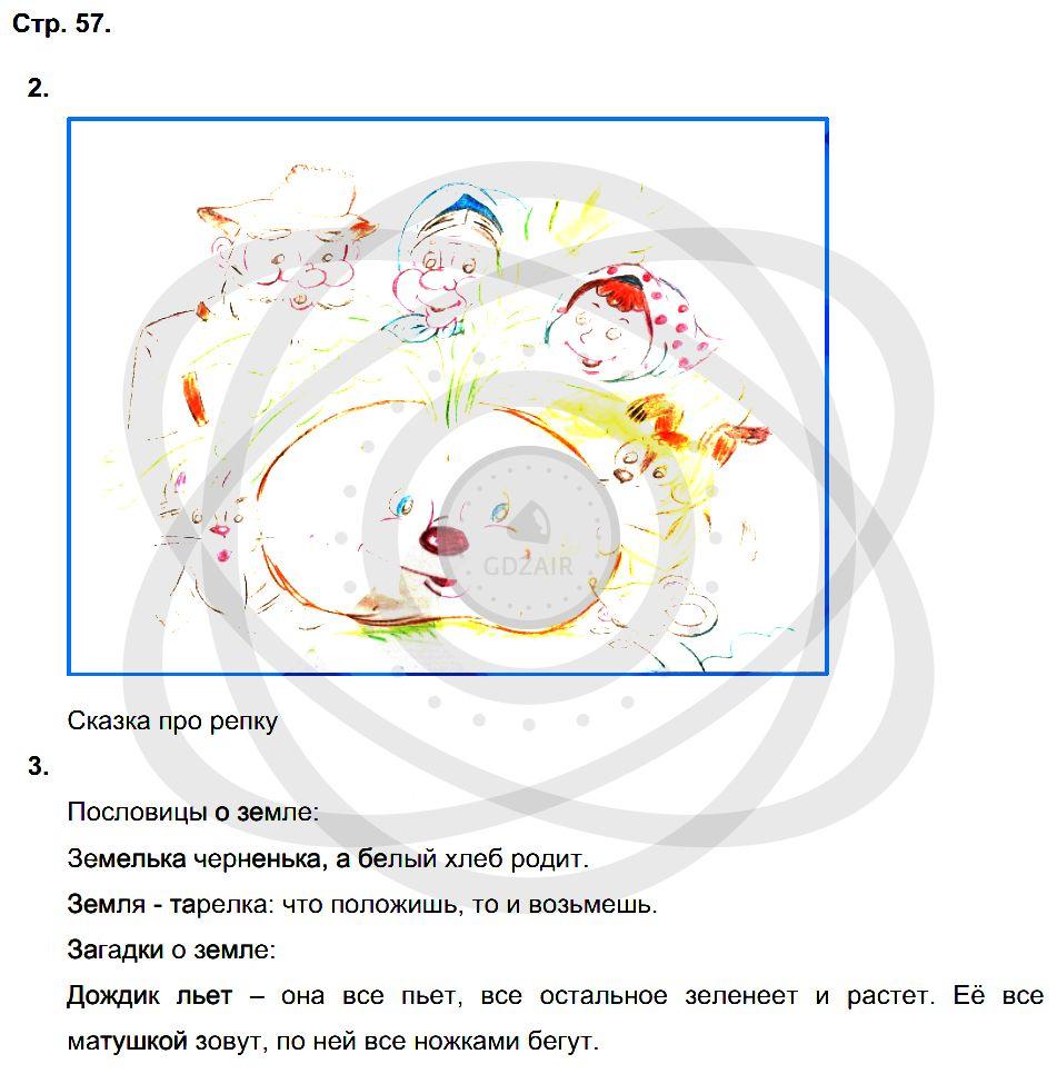 Окружающий мир 3 класс Плешаков А. А. Страницы: 57