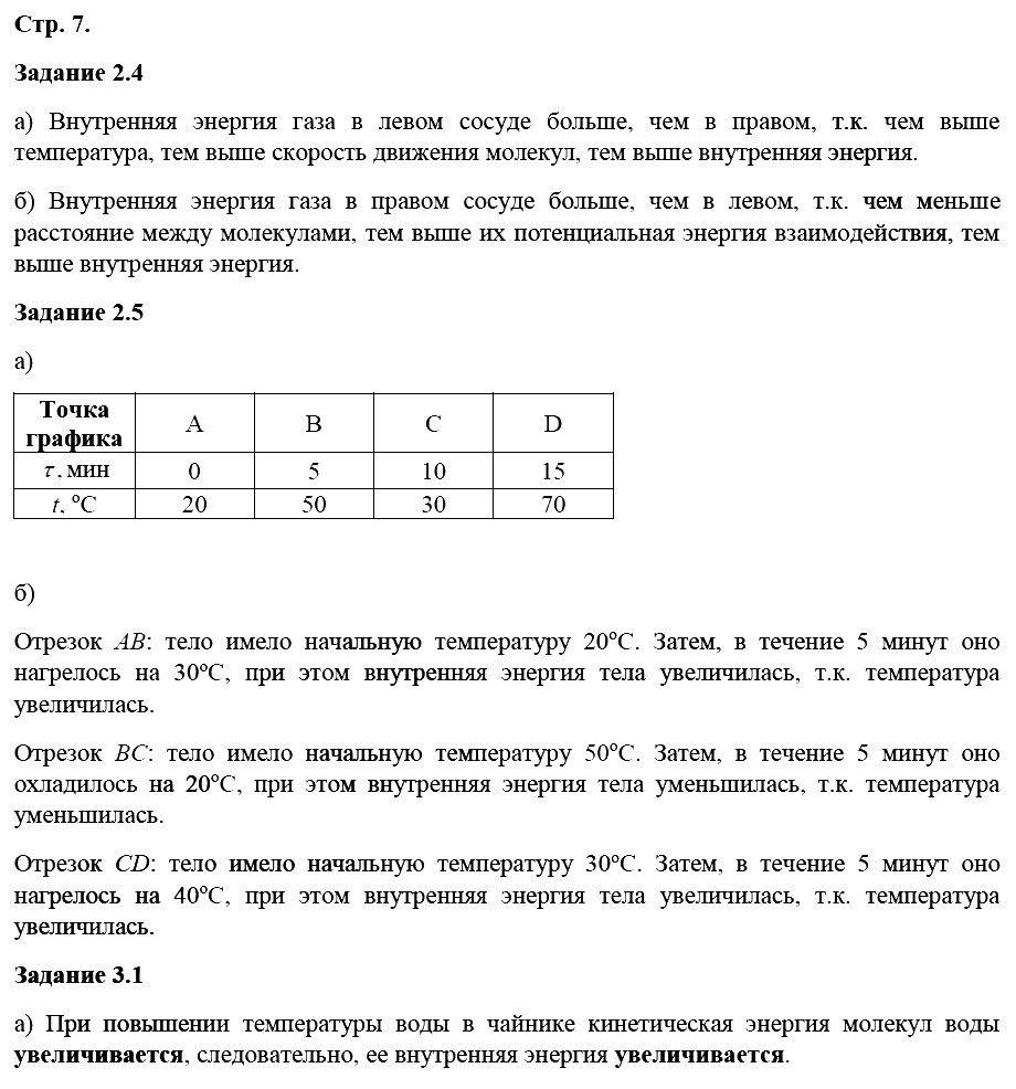 Физика 8 класс Ханнанова Т. А. Страницы: 7