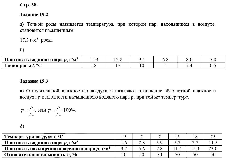 Физика 8 класс Ханнанова Т. А. Страницы: 38