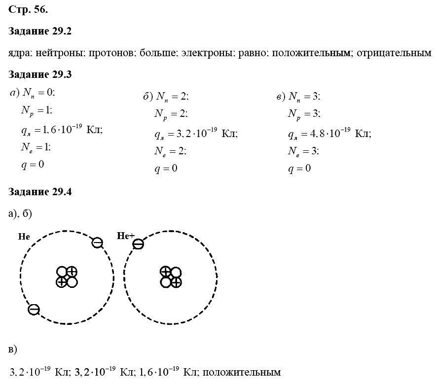 Физика 8 класс Ханнанова Т. А. Страницы: 56