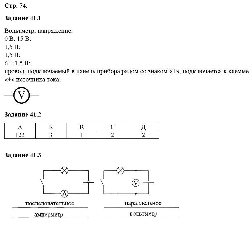 Физика 8 класс Ханнанова Т. А. Страницы: 74