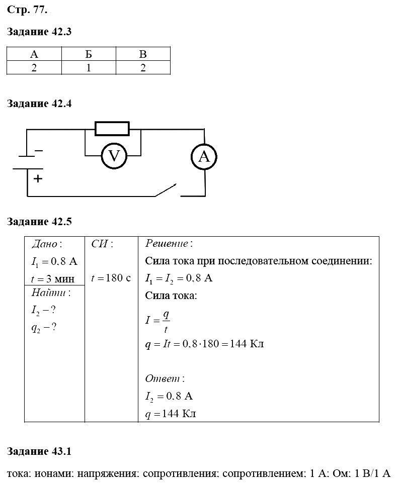 Физика 8 класс Ханнанова Т. А. Страницы: 77