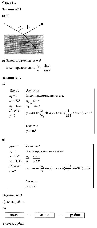 Физика 8 класс Ханнанова Т. А. Страницы: 111