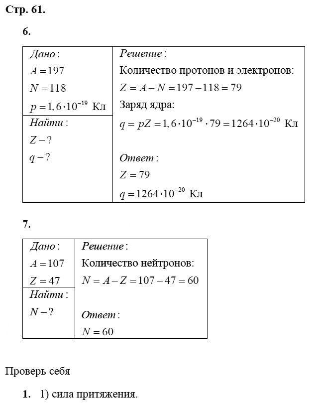 Физика 8 класс Касьянов В. А. Страницы: 61