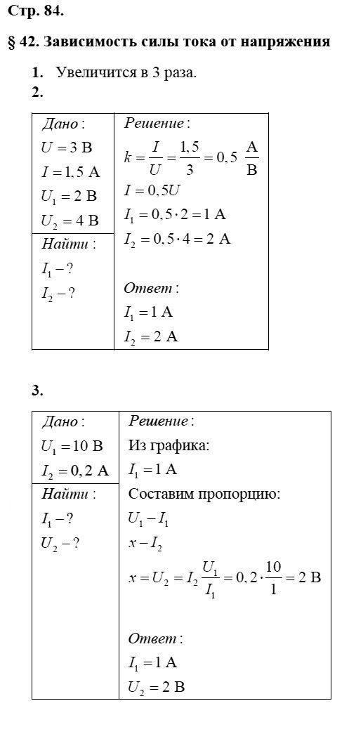 Физика 8 класс Касьянов В. А. Страницы: 84