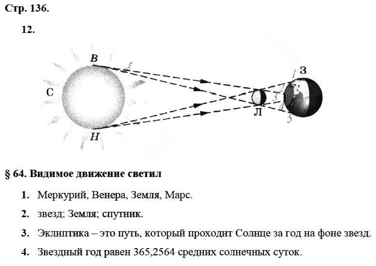 Физика 8 класс Касьянов В. А. Страницы: 136